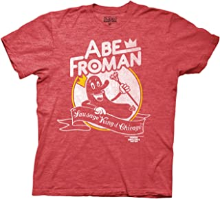 Ferris Bueller's Day Off Adult Unisex Abe Froman Heavy Weight 100% Cotton Crew T-Shirt