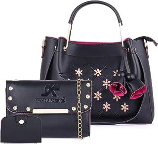 Speed X Fashion Women's Handbag With Clutch & Card Slot PU Combo (Set of 3)