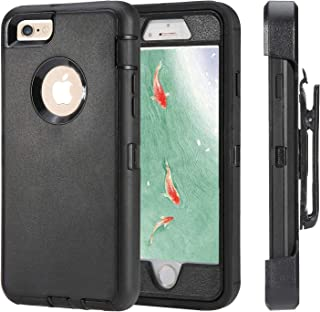 iPhone 6 Case, iPhone 6s [Heavy Duty Protection] [with Kickstand] 4 in 1 Rugged Shockproof Cover Holster Case with Built-i...