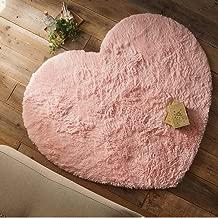 洗える 手洗い ハート形 かわいい キッズ 子供 竹炭ウレタン 抗菌 ホットカーペット 床暖房対応 130x150 ピンク ラグ ラグマット