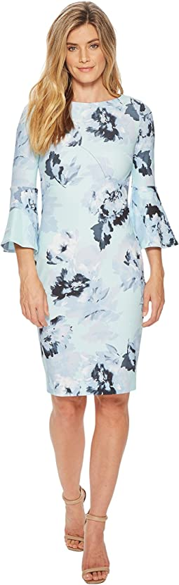 Calvin Klein - Floral Bell Sleeve Sheath CD8CF33E