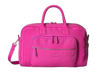 Vera Bradley Iconic Compact Weekender Travel Bag (Rose Petal) Weekender/Overnight Luggage