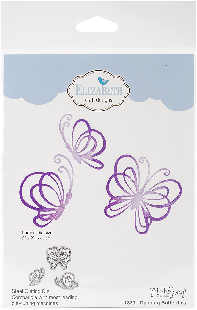Elizabeth Craft Designs 1323 Metal Die Dancing Butterflies, Largest 2