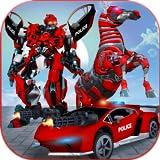 Transformación multi robot de la policía estadounidense: juegos de caballos salvajes