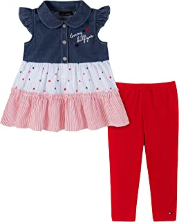 Tommy Hilfiger Girls' 2 Pieces Legging Set