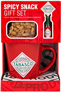 Thoughtfully Gifts, Tabasco Spicy Peanuts Gift Set, Includes Tabasco Mug, Tabasco Spicy Peanuts, and Mini Tabasco Pepper S...