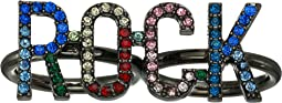 "Rhinestone ""Rock"" Fashion Ring"