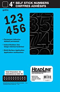 Best Headline Sign 32431 Stick-On Vinyl Numbers, Black, 4-Inch Review