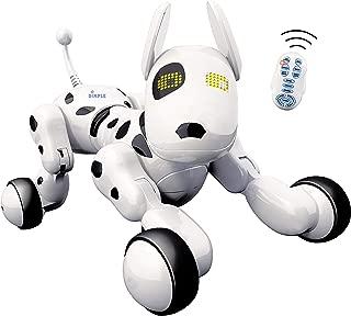 Dimple Interactive Robot Puppy avec télécommande sans fil RC Animal Dog Toy qui chante, danse, mode yeux, parle pour les garçons / filles, cadeau parfait pour les enfants.