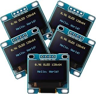 Frienda 5 Piece 0.96 Inch OLED Module 12864 128x64 Yellow Blue SSD1306 Driver I2C IIC Serial Self-Luminous Display Board C...