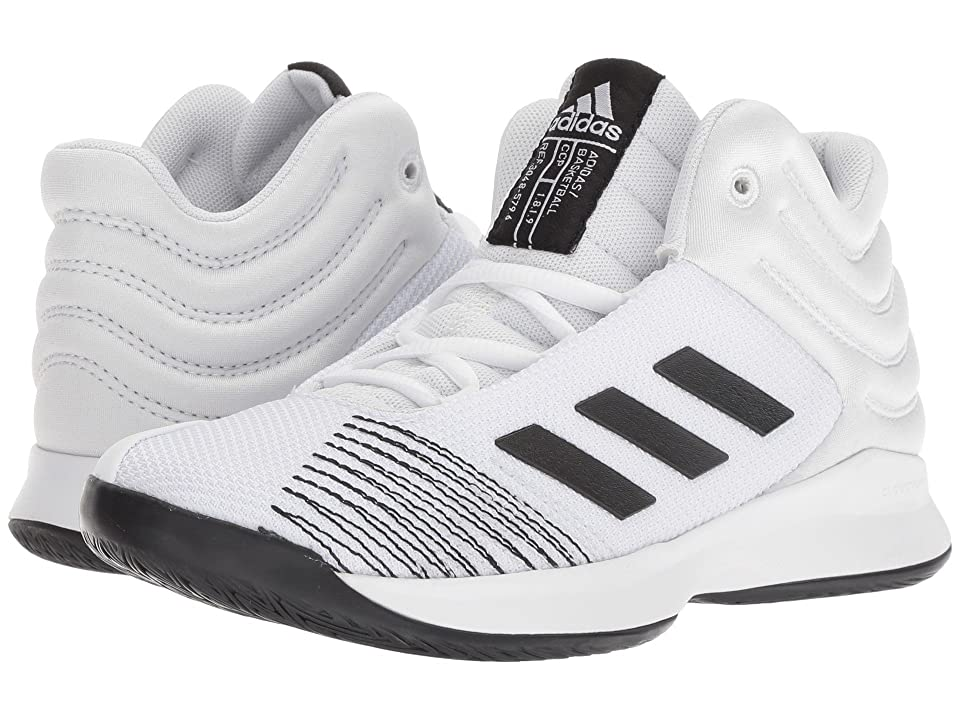 adidas Kids Pro Spark Basketball (Little Kid/Big Kid) (White/Black/Grey) Kid