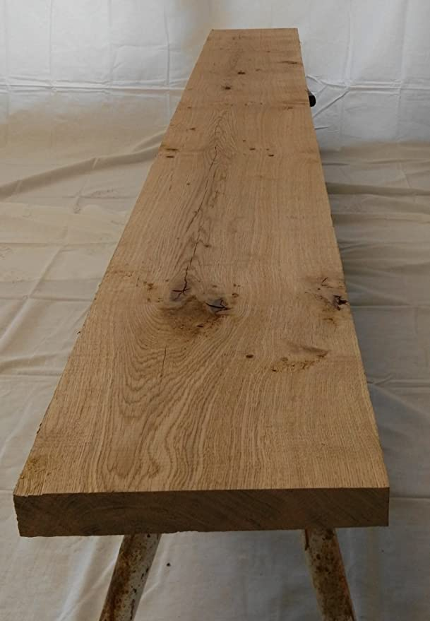 100 cm lang Eichenbohle//Eichenbrett Eiche Bohle 6 cm stark 40 cm breit Brett Holz 100-220 cm lang s/ägerauh