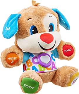 Fisher-Price Smart Stages Puppy, Laugh and Learn, Soft Educational Electronic Toddler Learning Toy with Music and Songs, S...