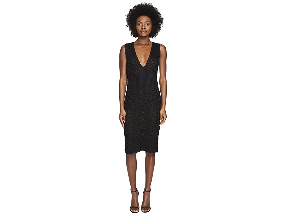 Zac Posen Dandelion Lace Knit Sleeveless Dress (Black) Women