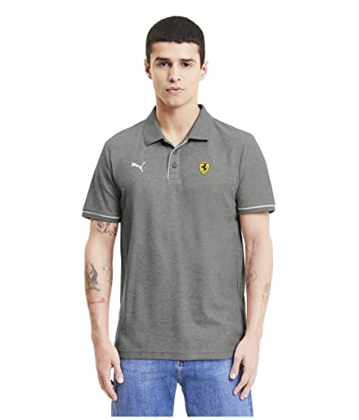PUMA Scuderia Ferrari Race Polo (Medium Gray Heather) Men