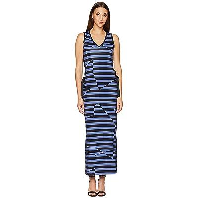 Nicole Miller Maxi Dress (Black/Blue) Women