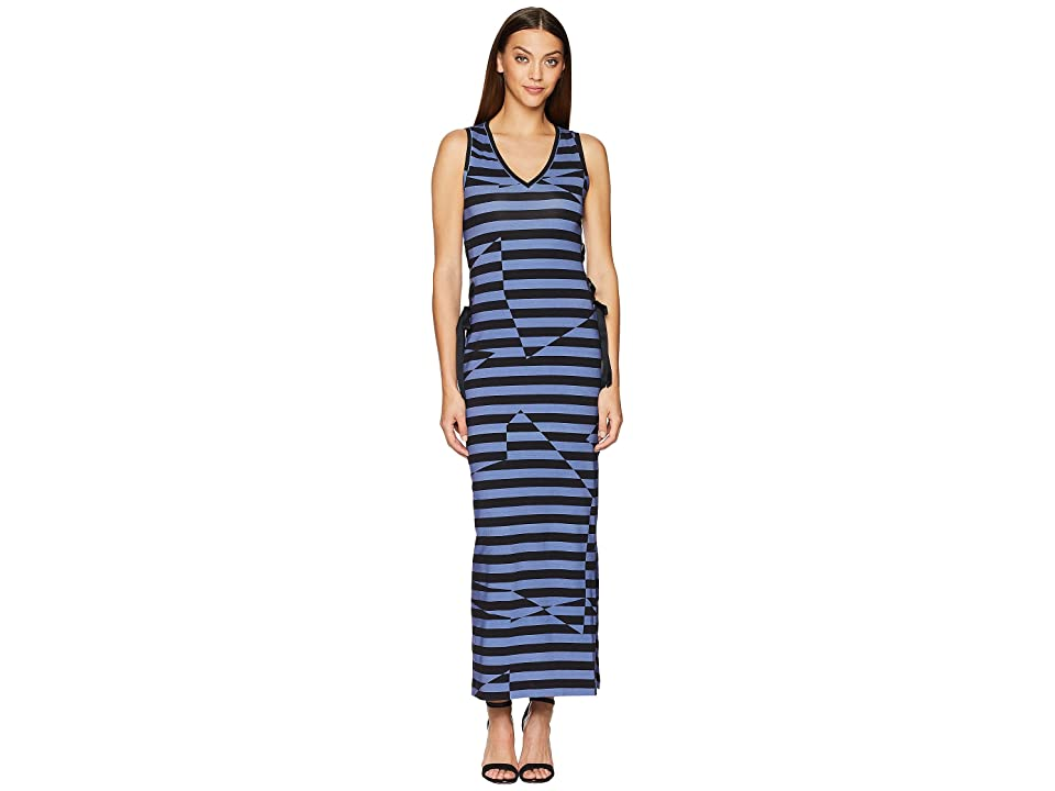 Nicole Miller Maxi Dress (Black/Blue) Women