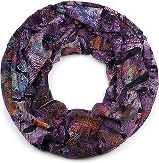 unisex 01016119 styleBREAKER sciarpa scaldacollo in stile splat con segni e scarabocchi dal look vintage destroyed