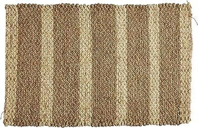 LONGDAY-Women Tops 47th & Main Seagrass Doormat, Medium, Black-a