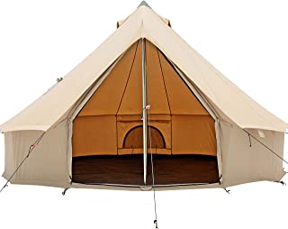 Image of WHITEDUCK Regatta Canvas Bell Tent Premium & Breathable 100% Cotton, Waterproof, 4 Season with Galvanized Steel Center & Door Pole for Camping