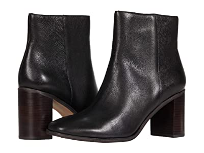 Madewell Malone Square Toe Bootie (True Black Leather) Women
