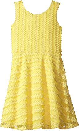 Us Angels - Sleeveless Cross-Back Fit and Flare Dress (Big Kids)
