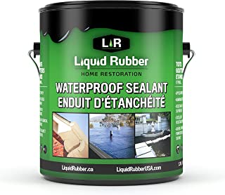 Liquid Rubber Waterproof Sealant, Black 1 Gallon