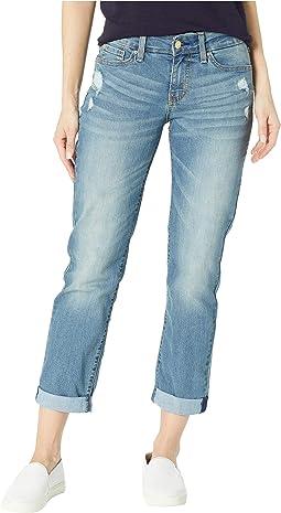 Mid-Rise Slim Boyfriend Jeans