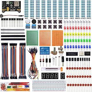 KeeYees 電子工作キット 初心者向け スターターキット 電子部品 基本部品56種類 エレクトロニクス入門キット Electronics Fun Kit チュートリアルあり