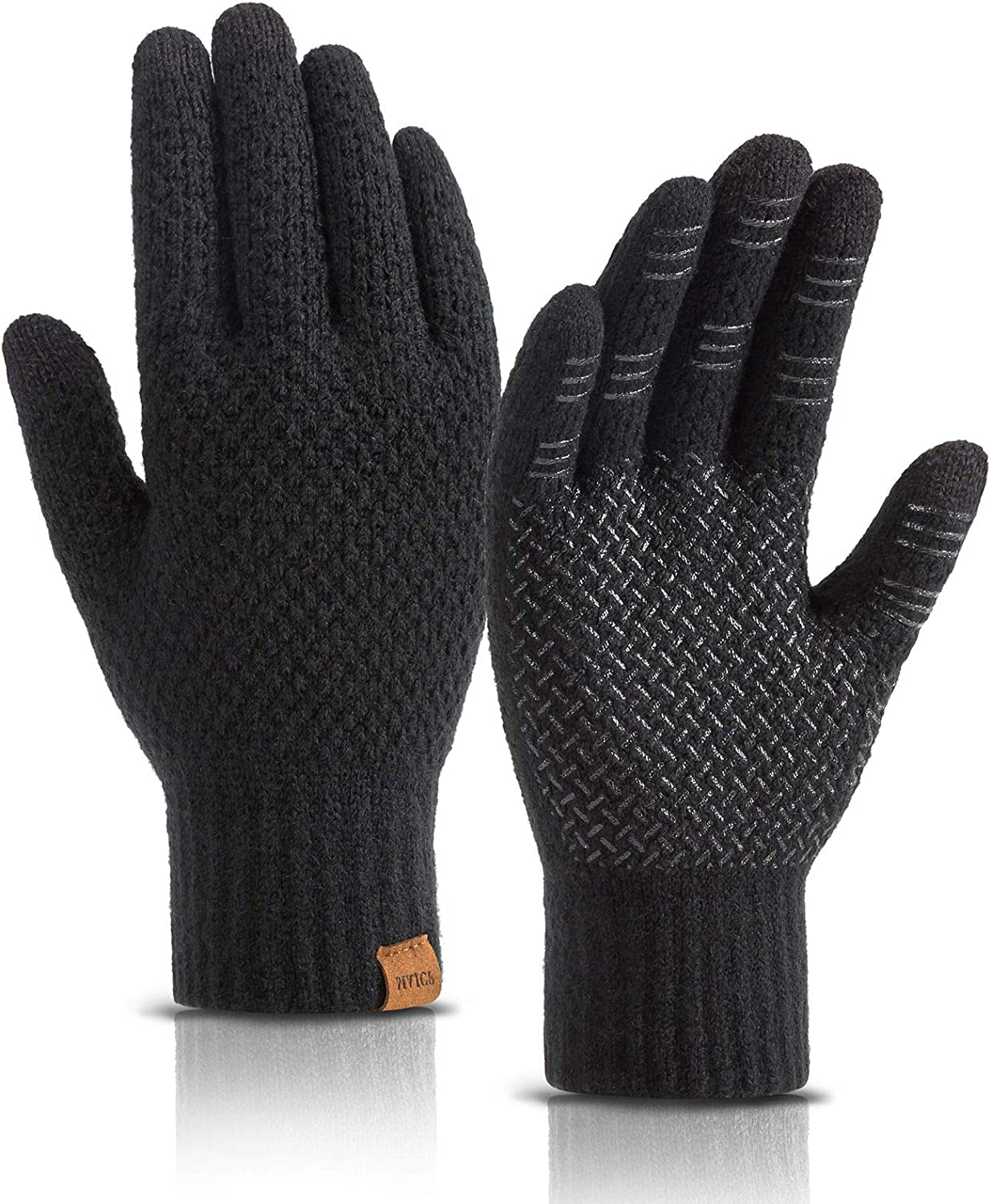 MAJCF Winter Gloves for Men Women,Touch Screen Gloves,Thermal Warm Cold Weather Gloves Fleece Lined