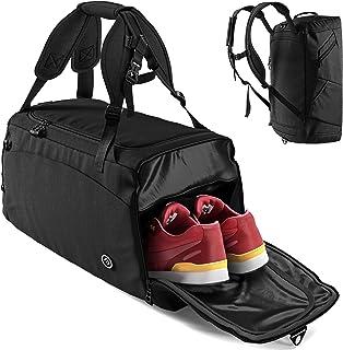Sporttasche Trainingstasche + Rucksack-Funktion, Schuhfach, Nassfach | 40L Reisetasche Schwimmtasche Fitnesstasche Sport G...