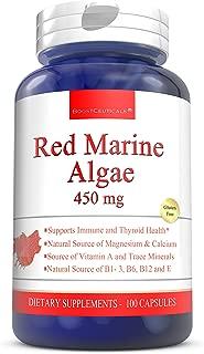 BoostCeuticals Red Marine Algae 450mg 100 Capsules - Pure Non-GMO – NO Additives - Gluten Free Red Marine Algae Supplements - 900mg Daily Dose