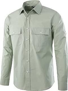 Men's Premium Casual Cotton Long Sleeve Outdoor Button-Down Work Shirt