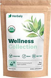 Herbaly Wellness Collection Tea 28 Count bag, 70 g/2.5 oz(Pack of 1)