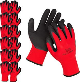 ACKTRA Coated Nylon Safety WORK GLOVES, WG008, Parent