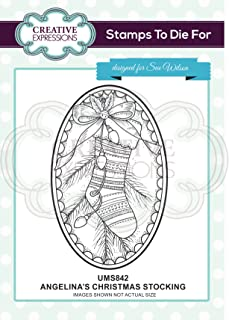 Creative Expressions Angelina's Christmas Stocking Stamps to Die for by Sue Wilson