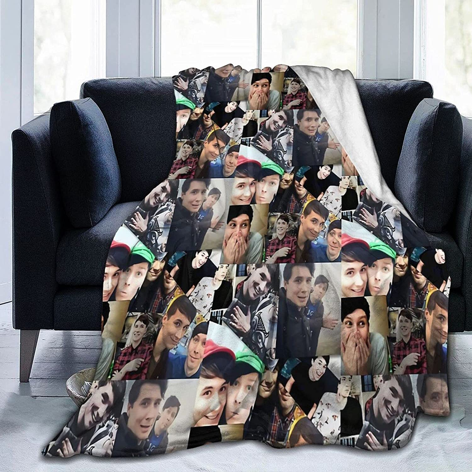 Dan and Phil Max 56% OFF Soft Comfortable Popular products Blanket Fleece Warm for Sofa