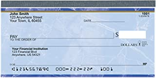 Value Price Blue Marble Top Tear Personal Checks (1 Box of Singles, Qty. 125)