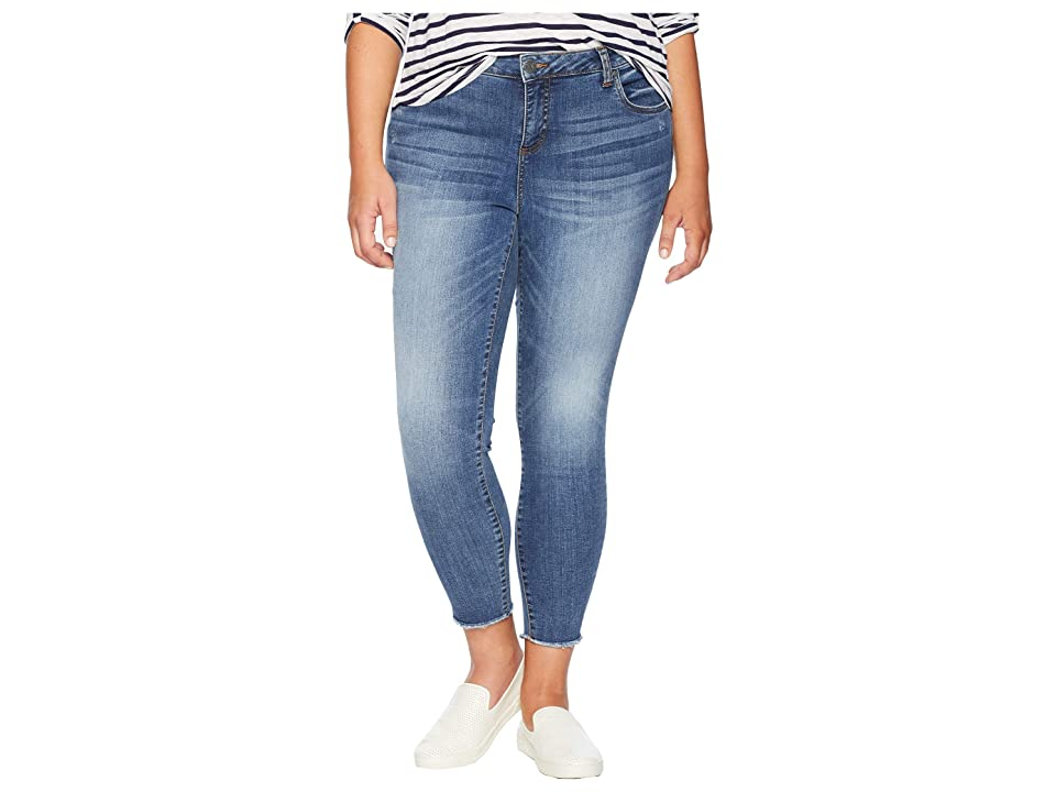 KUT from the Kloth Plus Size Connie Ankle Skinny Jeans in Guileless (Guileless/Medium Base Wash) Women