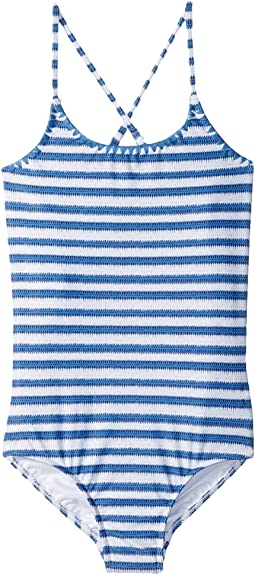 Seafolly Kids - Sapphire Coast Stripe Tank One-Piece (Big Kids)