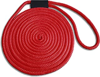 5/8 x 40' Red Double Braid Nylon Dock Line - Made in USA - Superior Strength