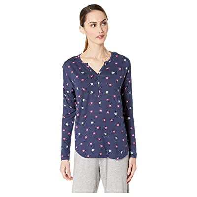 Hatley Henley Lounge Top (Blue) Women
