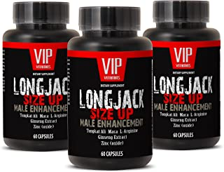 Testosterone Booster longjack - LONGJACK Size UP (Male Enhancement Formula) - Maca Supplement Pill - 3 Bottles 180 Capsules