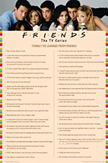 Friends Things I Learned (Drinking Milkshakes) TV Television Show Print (Unframed 24 x 36 Poster)
