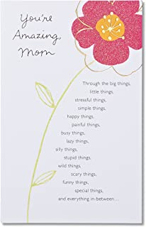 American Greetings You're Amazing Birthday Card for Mom with Glitter