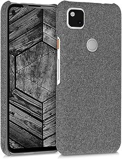 kwmobile Hülle kompatibel mit Google Pixel 4a   Stoff Cover Handyhülle   Backcover Schutzhülle in Grau