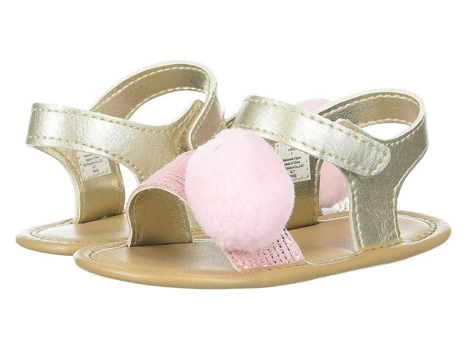 Baby Deer Soft Sole Pom Pom Sandal (Infant) (Champagne) Girls Shoes