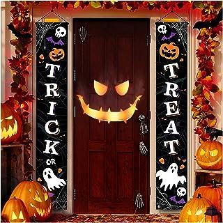 Decoración de Halloween al aire libre – Decoración de puerta delantera para colgar en Halloween, decoraciones al aire libr...