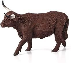 MOJO Highland Cow Realistic Farm Animal Toy Replica Hand Painted Figurine