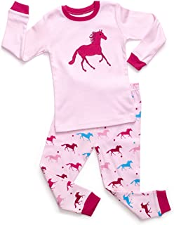 Kids & Toddler Horse Bird Girls Pajamas 2 Piece Pjs Set 100% Cotton Sleepwear (12 Months-14 Years)